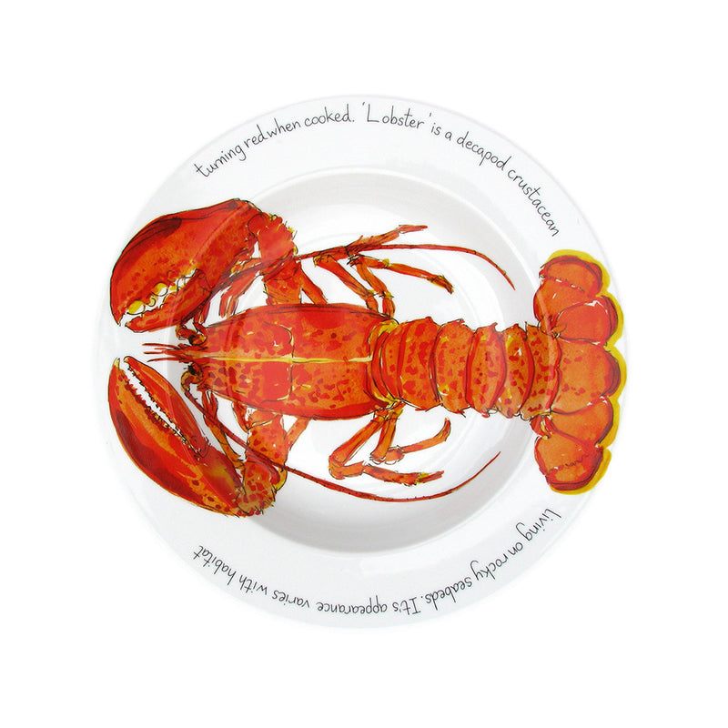Richard Bramble 30cm Dinner Plate - Red Lobster