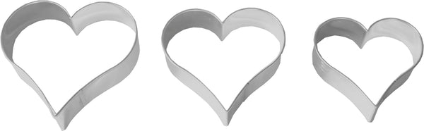 Birkmann Tinplate Cookie Cutter - 4cm, 5.5cm & 6.5cm Hearts