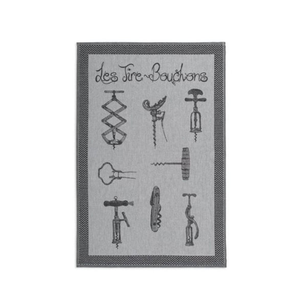 Coucke Jacquard Kitchen Towel - Corkscrew