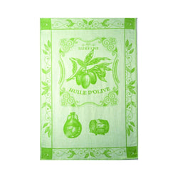 Coucke Jacquard Kitchen Towel - Olive Oil