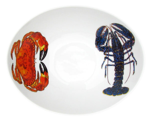 Richard Bramble 18cm Oval Bowl - Blue Lobster