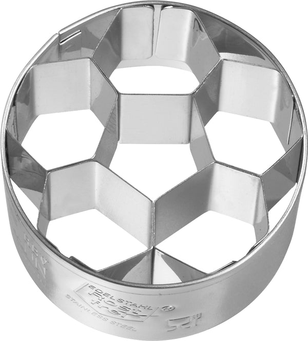 Birkmann Tinplate Cookie Cutter - Football/Soccer Ball 4.5cm