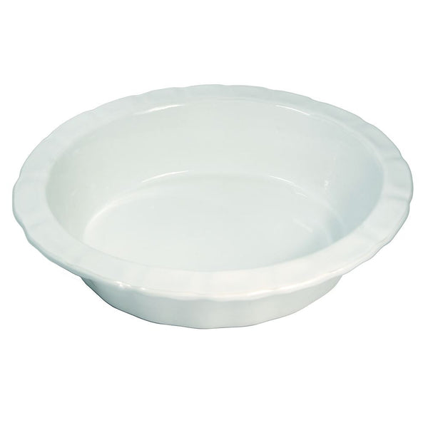 WM Bartleet & Sons Round Crinkle Pie Dish - Large