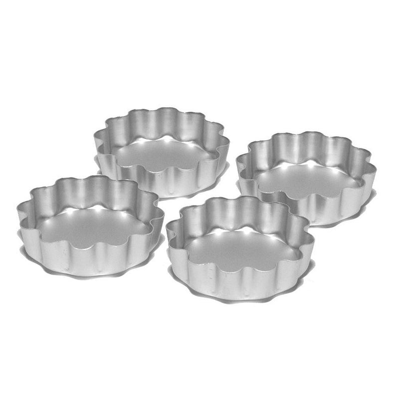 Silverwood Fluted Flan Tins - Set of 4