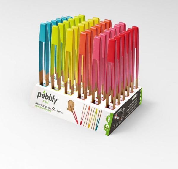 Pebbly Magnetic Toaster Tongs - Assorted Colour