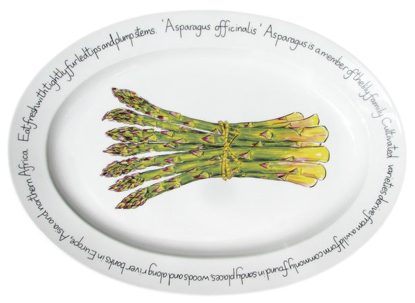 Richard Bramble Oval Plate 39cm - Asparagus