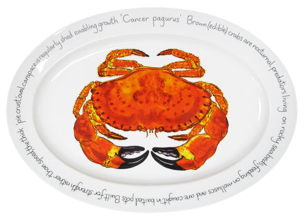 Richard Bramble Oval Plate 39cm - Crab