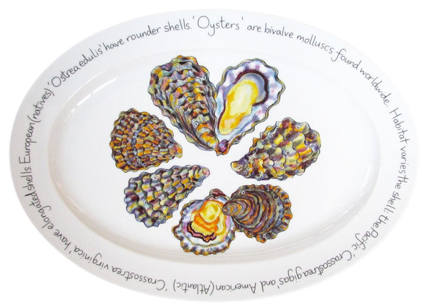 Richard Bramble Oval Plate 39cm - Oysters