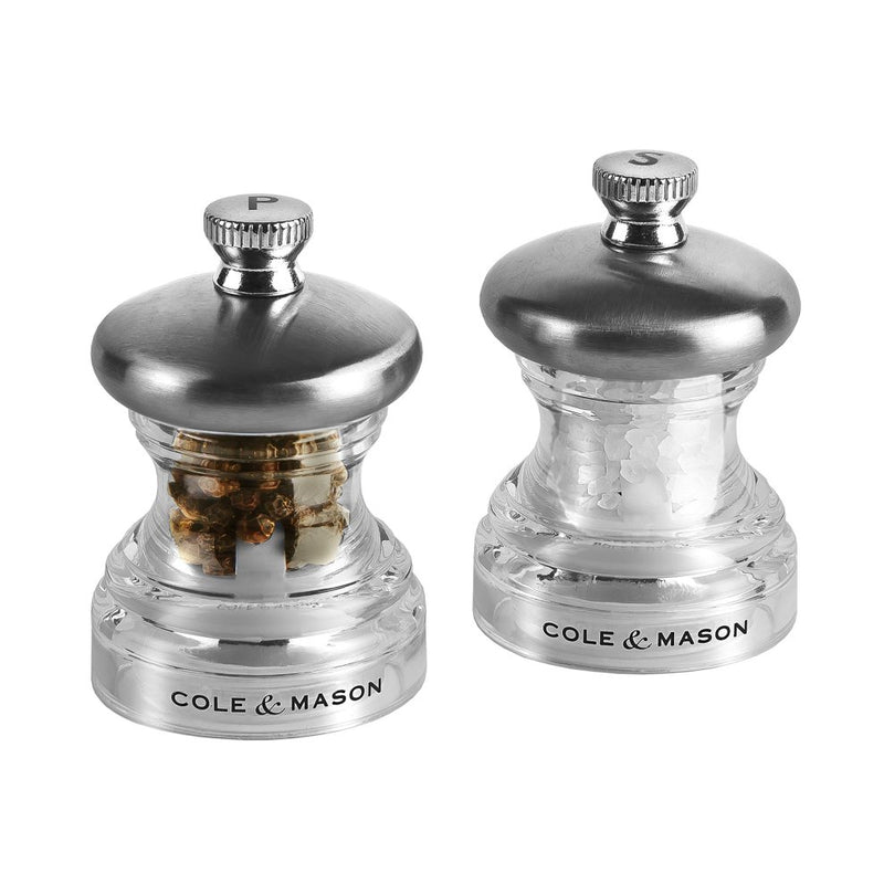 Cole & Mason Acrylic Button Salt & Pepper Mills