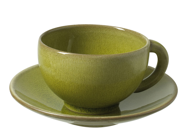 Jars Teacup and Saucer - Green