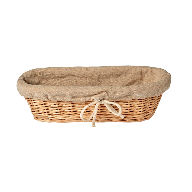 Matfer Cloth Lined Bread Basket Oval