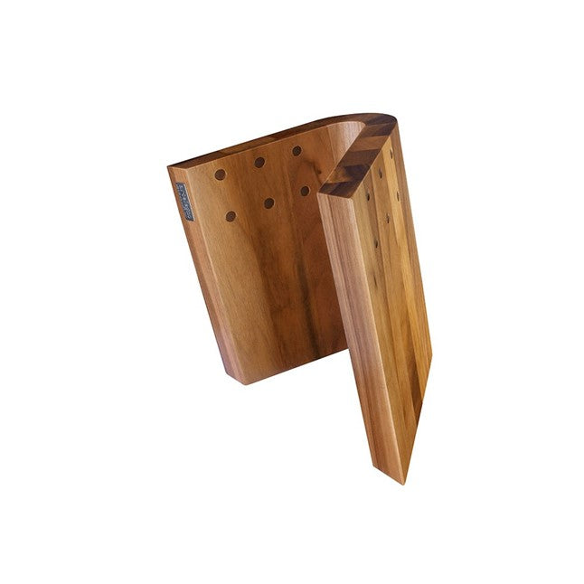 Artelegno Curve Magnetic Knife Block - Walnut