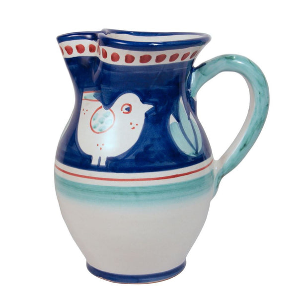 Solimene Gallina Blue & Green Gallina Jug - Large