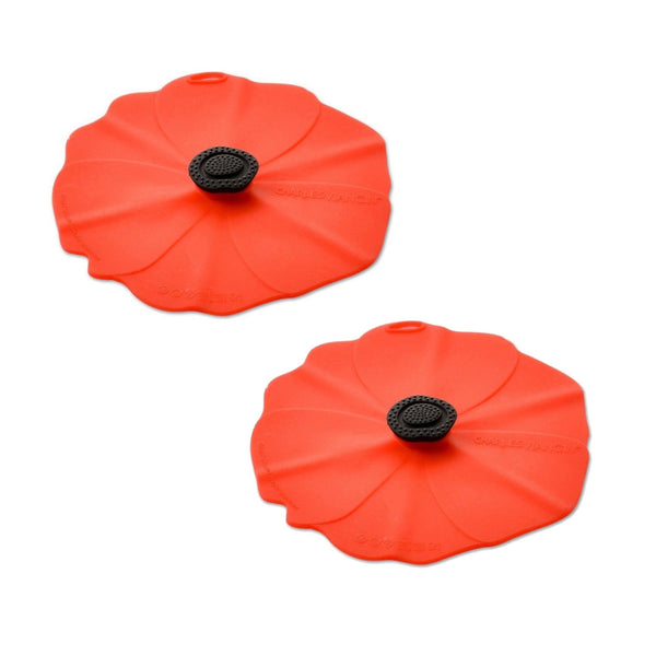 Charles Viancin Set of 2 Silicone Drinks Covers - Poppy