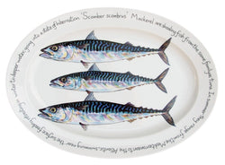 Richard Bramble Oval Plate 39cm - Mackerel