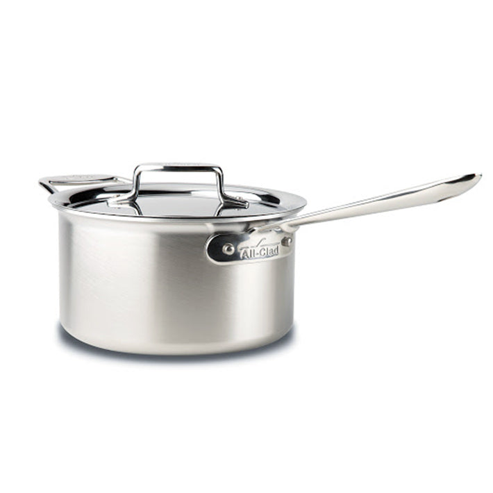 All-Clad D5 Saucepan with Lid - 4Qt / 3.8L