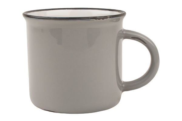 Canvas Home Large Tinware Mug - Light Grey