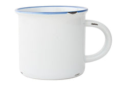 Canvas Home Large Tinware Mug - White