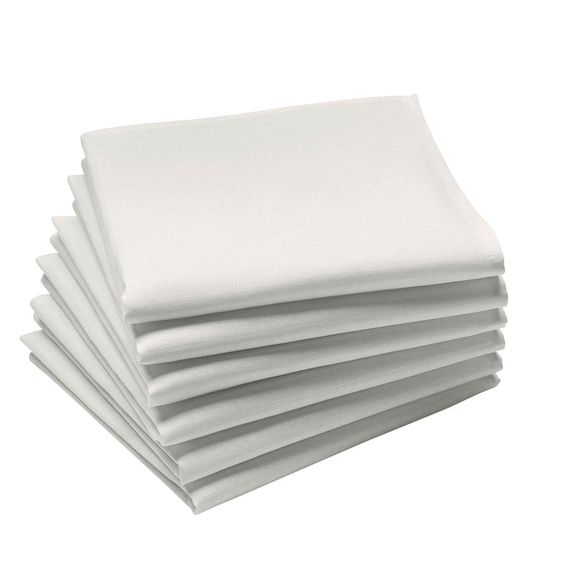 Coucke Plain Cotton Napkin - Blanc