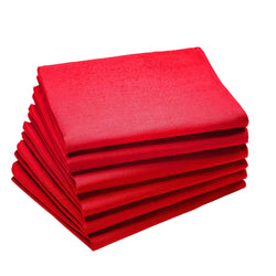 Coucke Plain Cotton Napkin - Cerise