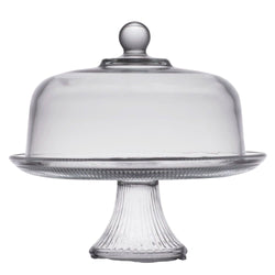 "Cake Glass 12"" Footed Cake Stand"