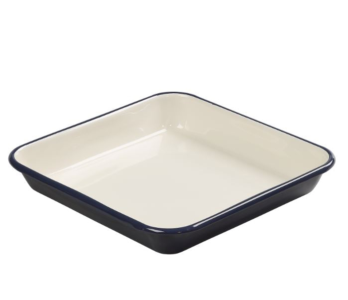 Tala 'Originals' Enamelled Steel Roaster – Indigo & Ivory