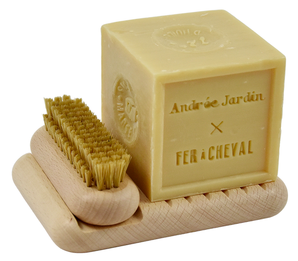 Andrée Jardin Marseille Soap & Brush Set - Natural
