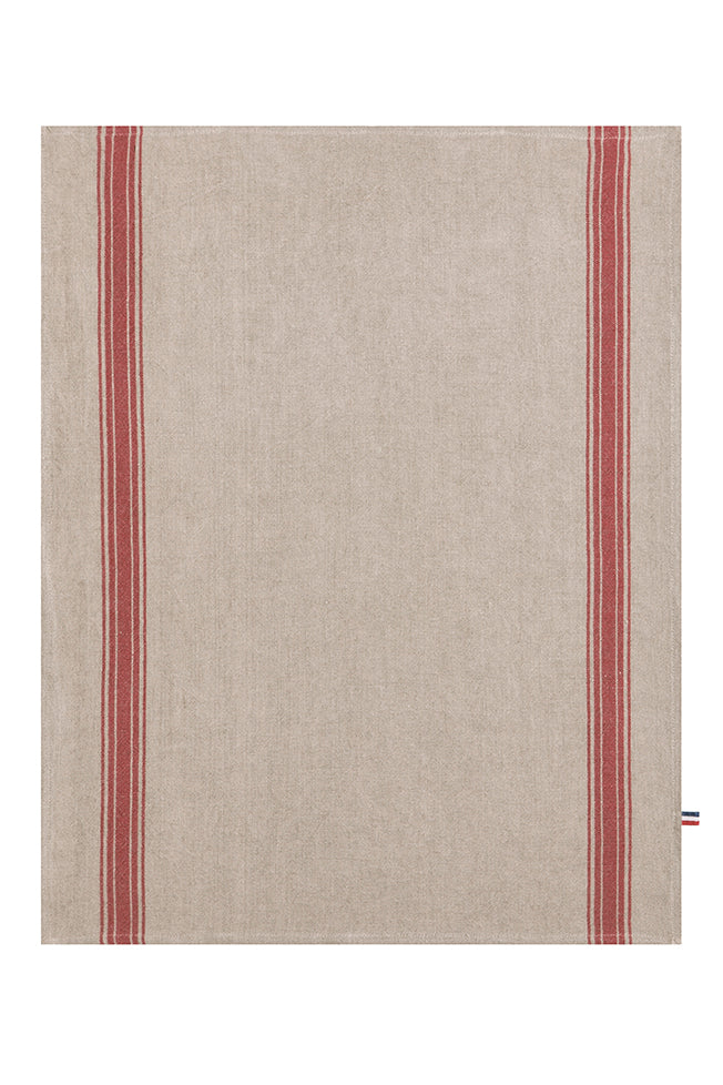 Coucke French Washed Linen Teatowel - Red
