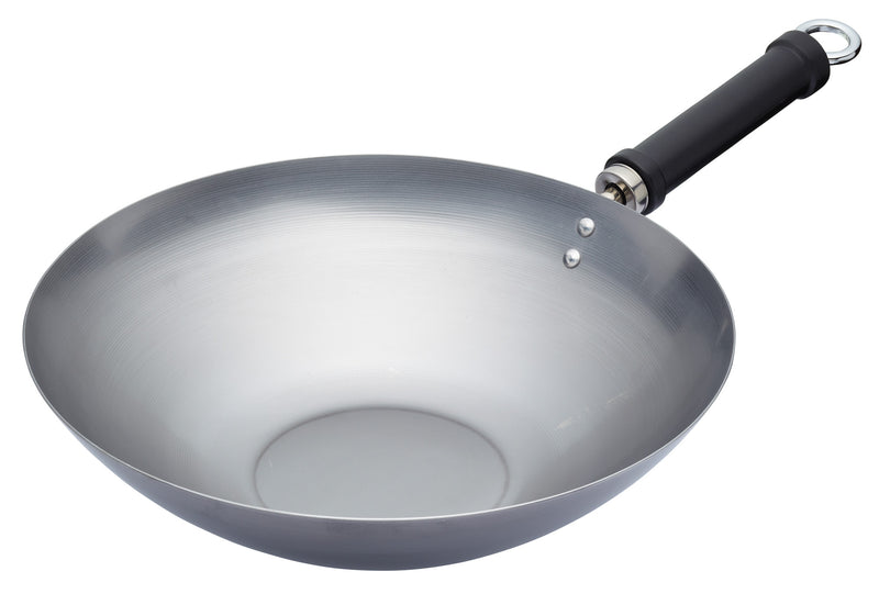 World Of Flavours Carbon Steel Wok - 30cm