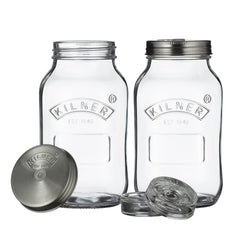 Kilner 1 Litre Fermentation Jars – Set of 2