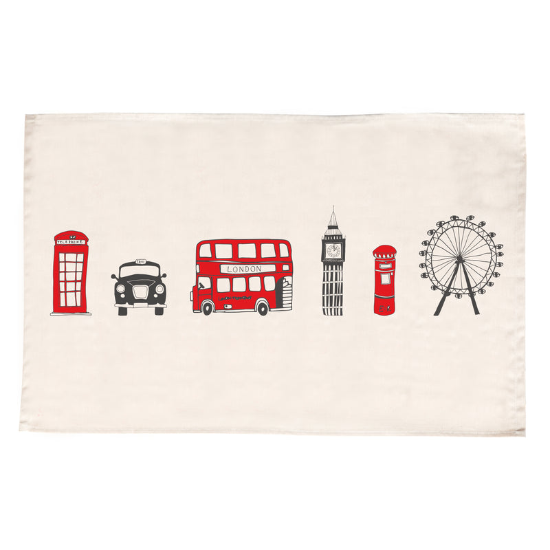 Victoria Eggs London Skyline Tea Towel