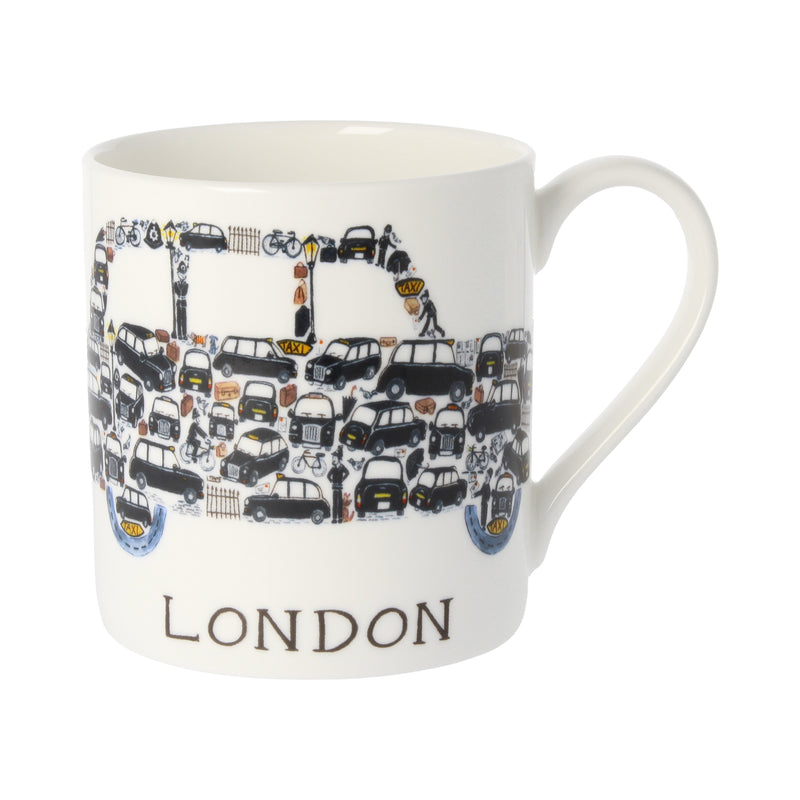 Louise Tate China Mug - Taxi