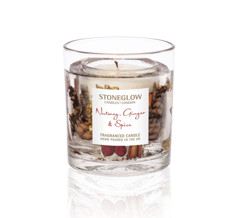 Stoneglow Scented Gel Candle In Glass