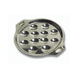 Matfer Steel Escargot Dish - 6 Hole