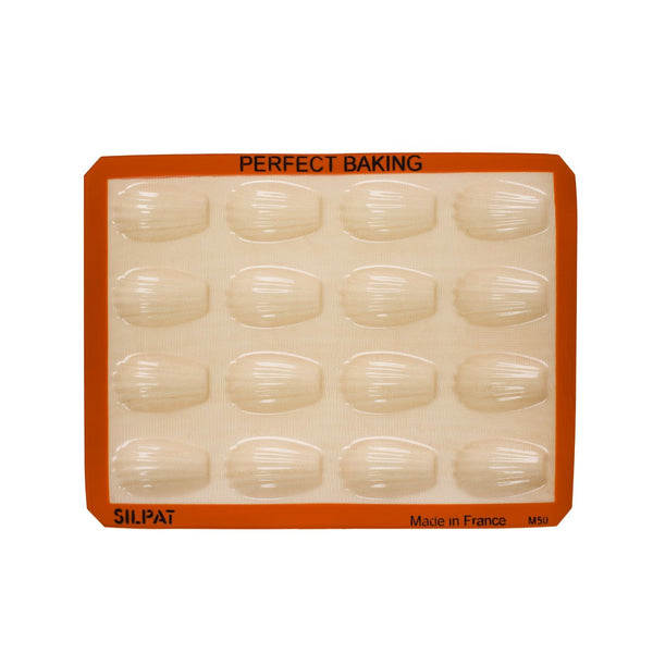 Silpat 16-Cup Madeleine Tray