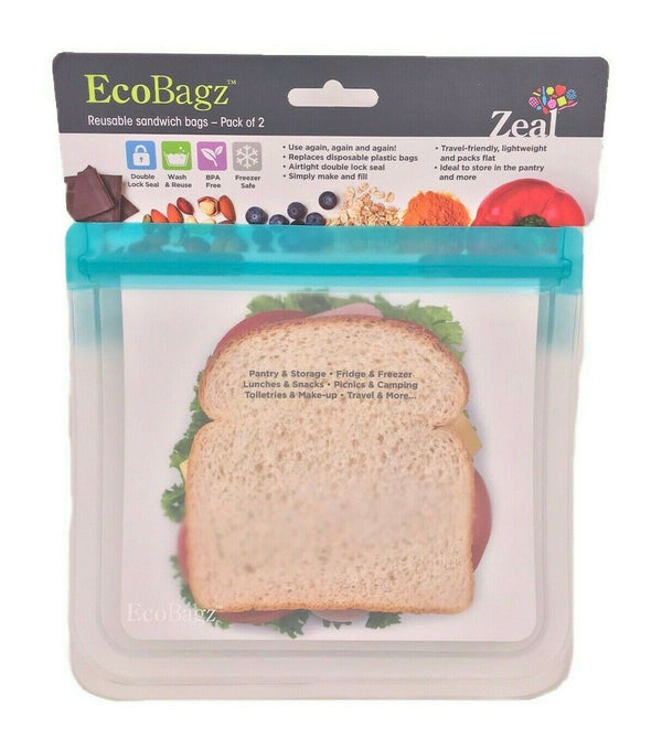 Zeal Eco Bagz Pack of 2 Reusable Sandwich Bags