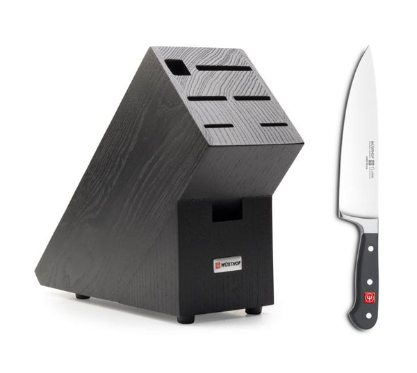 Wusthof Classic 20cm Cooks Knife & Free Black Knife Block