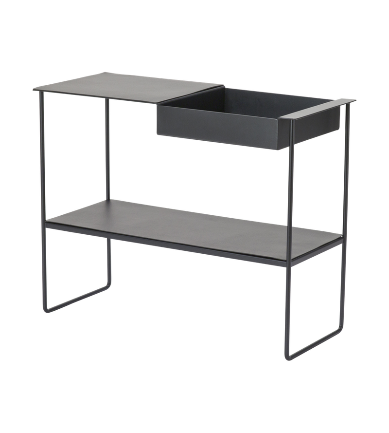 Lind DNA Console/Cocktail Table - Black Leather