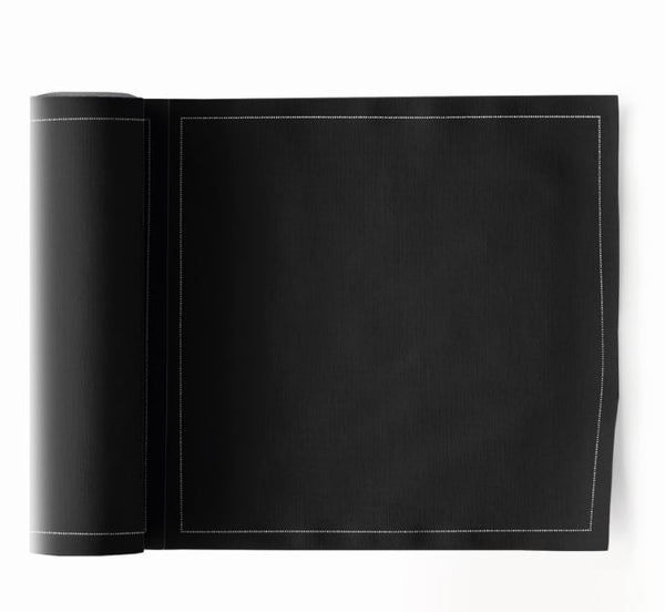 My Drap 24 Piece Cotton Napkin Roll - Black