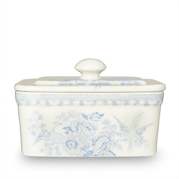 Burleigh Butter Dish With Lid Blue Asiatic Pheasant