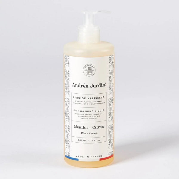 Andrée Jardin Organic Olive Dishwash Soap - Lemon & Mint