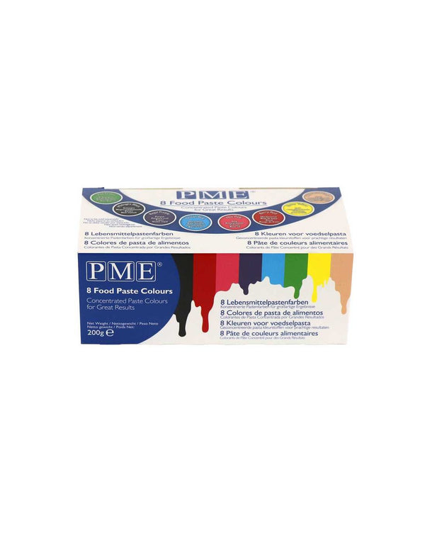 PME Concentrated Food Colouring Paste - Set of 8