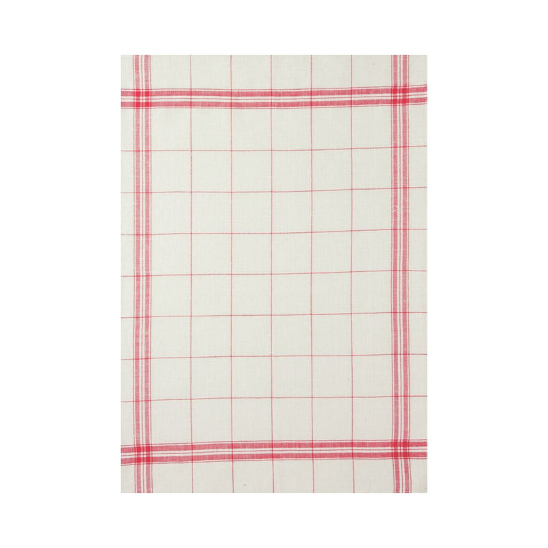Coucke French Linen Tea Towel - Red
