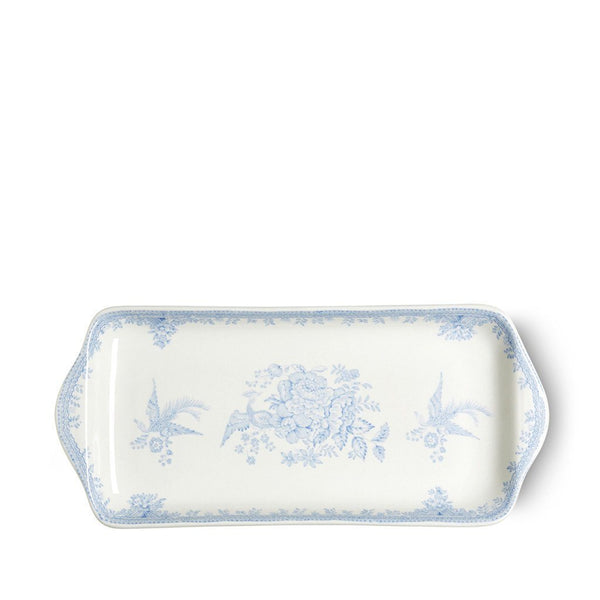 Burleigh Rectangular Tray Asiatic Pheasant Blue - 28cm