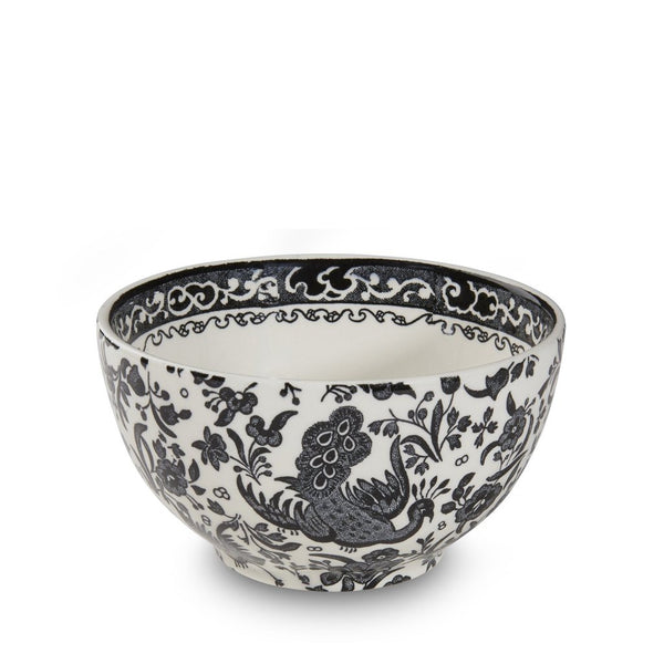 Burleigh Sugar Bowl Black Regal Peacock