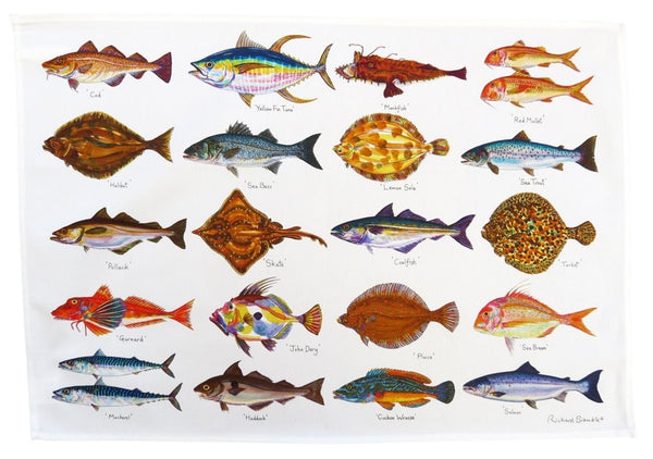 Richard Bramble Cotton Tea Towel - Seafish