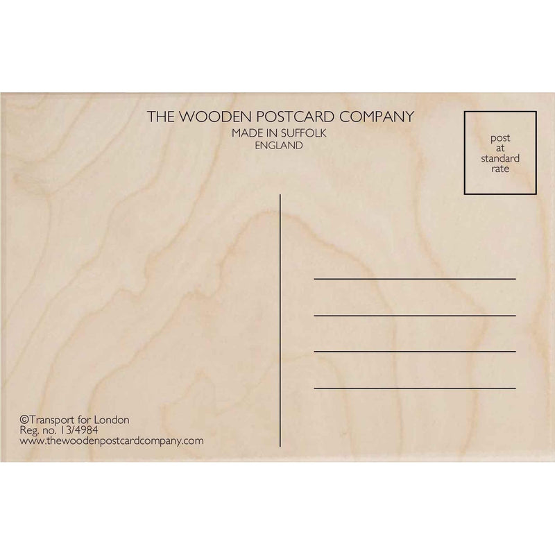 The Wooden Postcard Company Postcards - South Kensignton