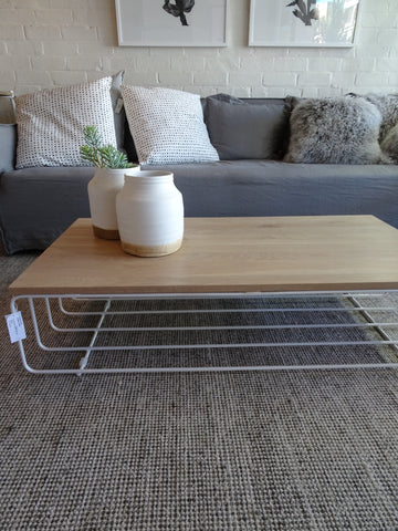 Calvin oak coffee table