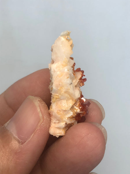 Vanadinite on Barite Raw Crystals 10g