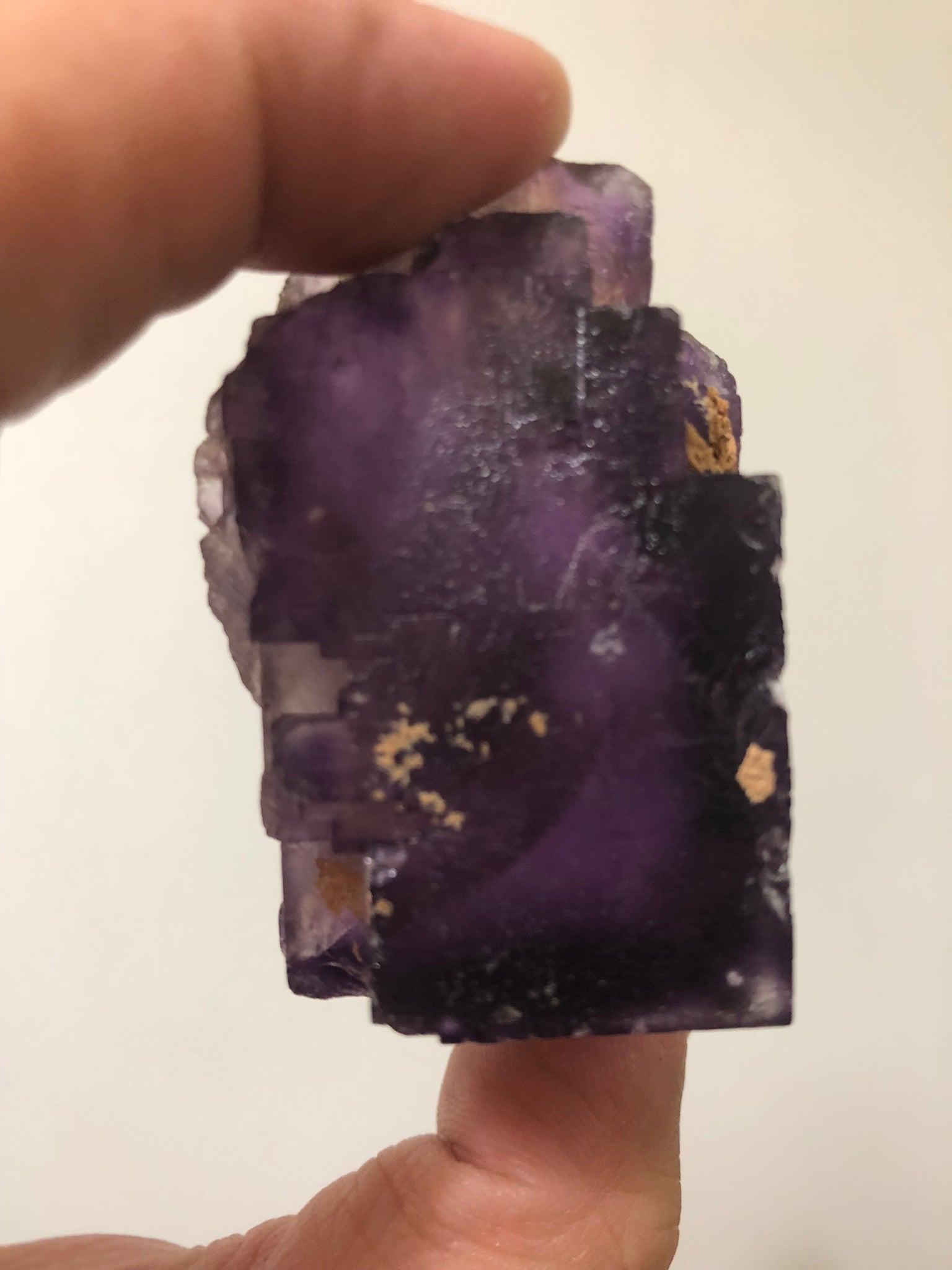 Deep Purple Cubic Flourite 112g